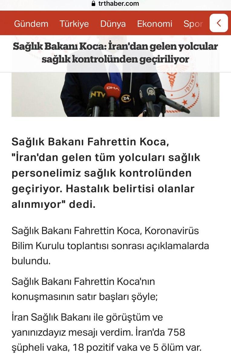 وزیر بهداشت #ترکیه به نقل از # … 541640001582296604