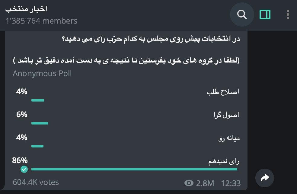 در بین نظرسنجیهای تلگرام، نظر … 818584001581034804