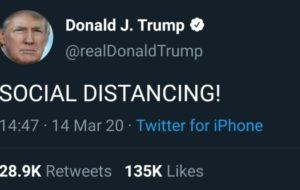 ترامپ تازه Social Distancing ر … ترامپ تازه Social Distancing ر … 527189001584213006 300x190