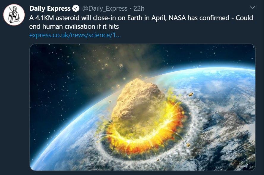 برخورد سیارک به زمین و پایان ت … 568072001583266808