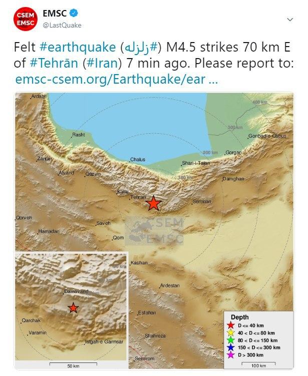 زلزله: ۴٬۵ ریشتر در ۷۰ کیلومتر … 899189001588883405