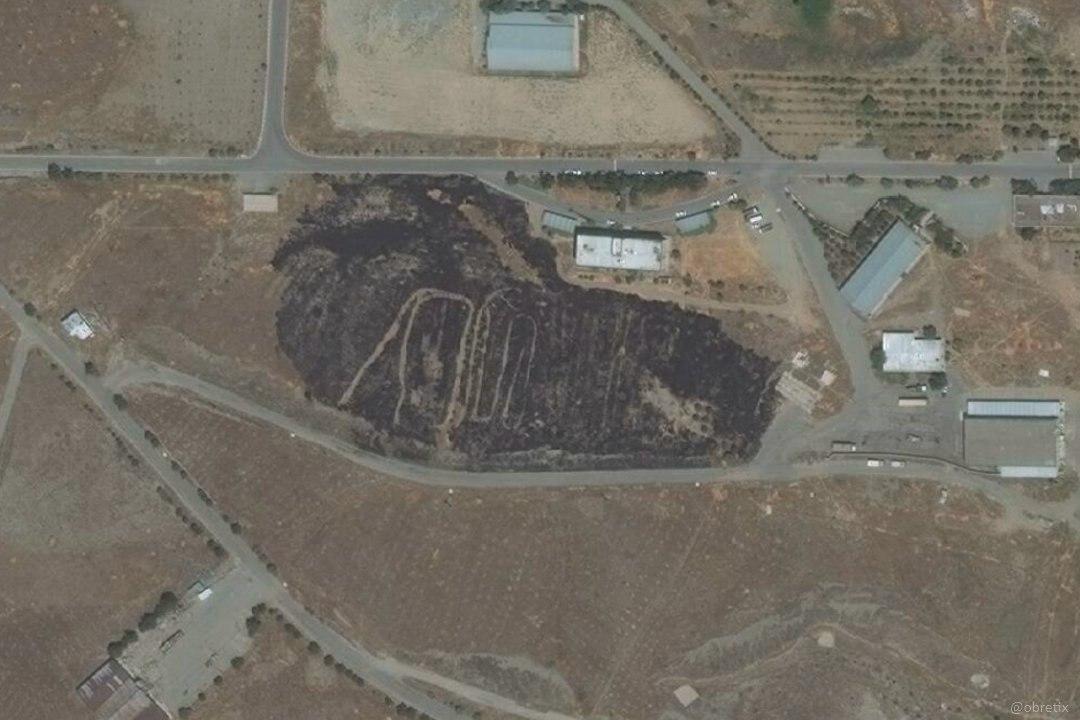 عکس ماهوارهای از بقایای ماجرا … 527920001595122805