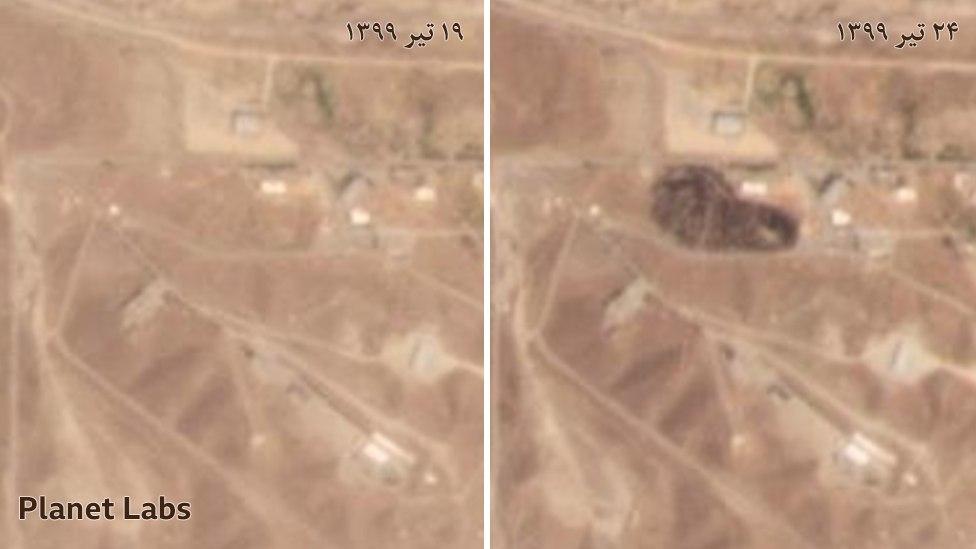 عکس ماهوارهای از بقایای ماجرا … 915572001595122805