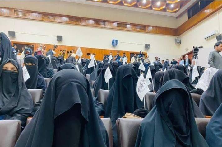 گردهمایی زنان طالبان در کابل س … 932088001631388602