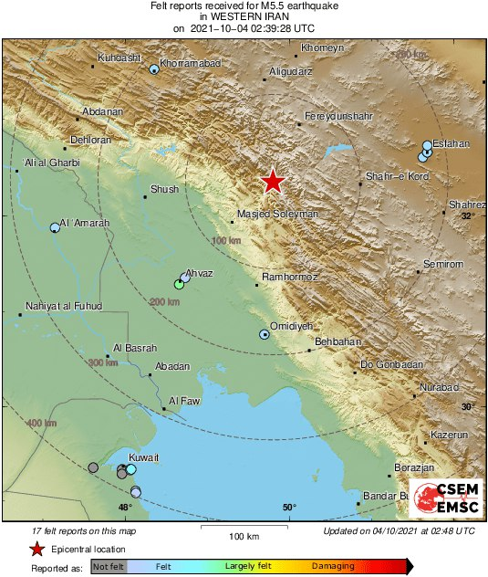 زلزله حوالی استانهای خوزستان … 738025001633316402